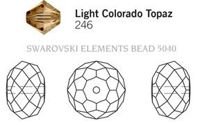 Swarovski 5040# - 18mm Light Colorado Topaz, 24pcs, (7-10)