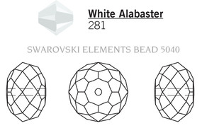 Swarovski 5040# - 6mm White Alabaster, 360pcs, (23-8)