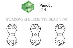 Swarovski 5150# - 11X6mm Peridot, 216pcs, (23-2)