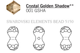 Swarovski 5150# - 23X11mm Crystal, GSHA, 36pcs, (23-3)