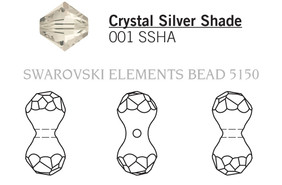 Swarovski 5150# - 23X11mm Crystal, SSHA, 36pcs, (23-3)