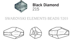 Swarovski 5203# - 18x12mm Black Diamond, 72pcs, (32-5)