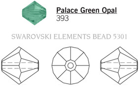 Swarovski 5301# - 3mm Palace Green Opal, 1440pcs, (16-3)
