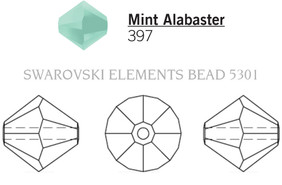 Swarovski 5301# - 4mm Mint Alabaster, 1440pcs, (15-8)