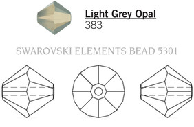 Swarovski 5301# - 5mm Light Grey Opal, 720pcs, (15-7)