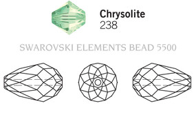 Swarovski 5500# - 9x6mm Chrysolite, 144pcs, (9-8)