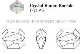 Swarovski 5520# - 10mm Crystal, AB, 288pcs, (18-4)