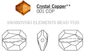 Swarovski 5520# - 12mm Crystal, COPPER, 144pcs, (9-8)