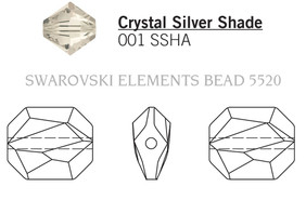 Swarovski 5520# - 12mm Crystal, SSHA, 144pcs, (10-9)