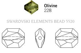 Swarovski 5520# - 12mm Olivine, 144pcs, (18-4)