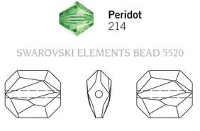 Swarovski 5520# - 12mm Peridot, 144pcs, (18-4)