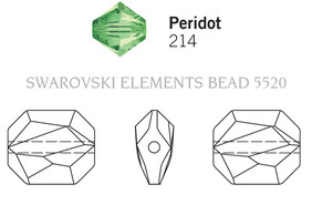 Swarovski 5520# - 18mm Peridot, 72pcs, (18-3)