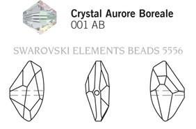 Swarovski 5556# - 11X19mm Crystal, AB, 96pcs, (17-11)
