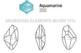 Swarovski 5556# - 13.5X24mm Aquamarine, 36pcs, (17-10)