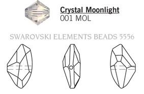 Swarovski 5556# - 15X27mm Crystal, MOL, 30pcs, (17-9)