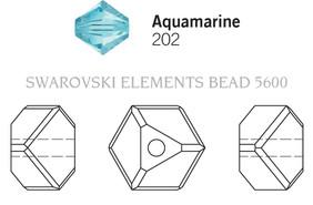 Swarovski 5600# - 4mm Aquamarine, 288pcs, (17-9)