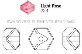 Swarovski 5600# - 4mm Light Rose, 288pcs, (17-9)
