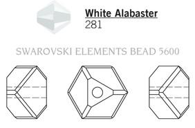 Swarovski 5600# - 4mm White Alabaster, 288pcs, (17-9)