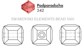 Swarovski 5601# - 4mm , PADPARADSCHA, 288pcs, (10-2)