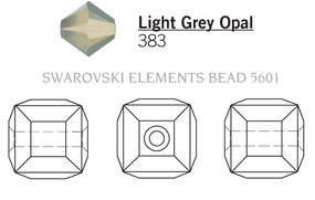 Swarovski 5601# - 4mm Light Grey Opal, 288pcs, (10-2)