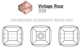 Swarovski 5601# - 4mm Vintage Rose, 288pcs, (6-3)