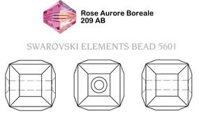 Swarovski 5601# - 6mm Rose, AB,B, 144pcs, (6-2)