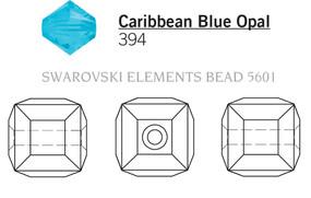 Swarovski 5601# - 8mm Caribbean Blue Opal, 96pcs, (6-2)