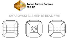 Swarovski 5601# - 8mm Topaz, AB,B, 96pcs, (6-1)