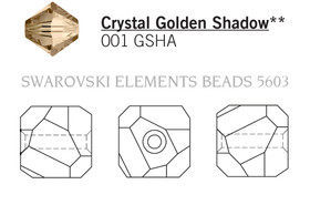 Swarovski 5603# - 4mm Crystal, GSHA, 288pcs, (17-8)