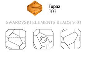 Swarovski 5603# - 4mm Topaz, 288pcs, (17-8)
