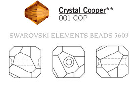Swarovski 5603# - 8mm Crystal, COPPER, 144pcs, (17-8)