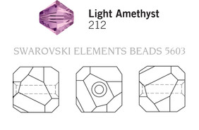 Swarovski 5603# - 8mm Light Amethyst, 144pcs, (17-8)