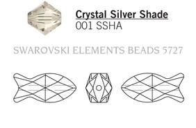 Swarovski 5727# - 18mm Crystal, SSHA, 72pcs, (10-12)