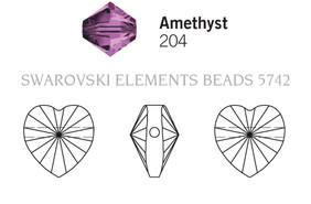 Swarovski 5742# - 10mm Amethyst, 288pcs, (32-2)