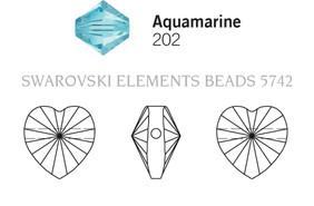 Swarovski 5742# - 10mm Aquamarine, 288pcs, (17-7)