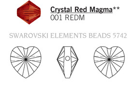 Swarovski 5742# - 10mm Crystal, REDM, 288pcs, (17-7)