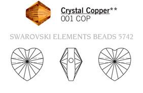 Swarovski 5742# - 14mm Crystal, COPPER, 96pcs, (10-1)
