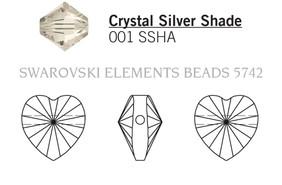 Swarovski 5742# - 8mm Crystal, SSHA, 288pcs, (10-6)