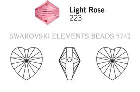 Swarovski 5742# - 8mm Light Rose, 288pcs, (17-7)