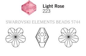 Swarovski 5744# - 5mm Light Rose, 720pcs, (17-6)