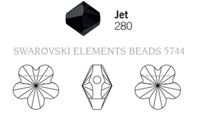 Swarovski 5744# - 6mm Jet, 360pcs, (17-5)