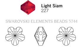 Swarovski 5744# - 6mm Light Siam, 360pcs, (10-3)
