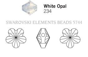 Swarovski 5744# - 6mm White Opal, 360pcs, (17-5)