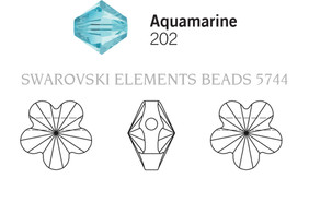 Swarovski 5744# - 8mm Aquamarine, 288pcs, (10-3)