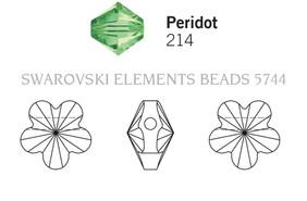 Swarovski 5744# - 8mm Peridot, 288pcs, (17-5)