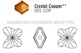 Swarovski 5754# - 5mm Crystal, COPPER, 720pcs, (17-4)