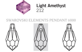 Swarovski 6000# - 110X55mm Light Amethyst, 288pcs, (17-3)