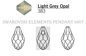 Swarovski 6007# - 7X4mm Light Grey Opal, 360pcs, (17-2)