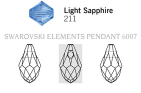 Swarovski 6007# - 7X4mm Light Sapphire, 360pcs, (17-2)