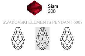 Swarovski 6007# - 9X5mm Siam, 288pcs, (17-2)